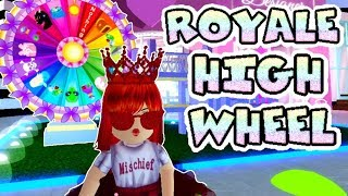 My Favorite Part of Roblox Royale High -- the Wheel of Prizes!