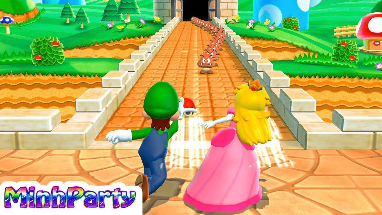 Mario Party 9 Minigames Collection Mario Vs Peach Vs Luigi Vs Daisy Gameplay