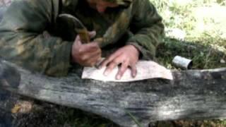 Кружка из бересты(Подробнее о школе выживания тут: http://pohodural.ru/shkola-vyzhivaniya., 2012-09-18T05:49:15.000Z)