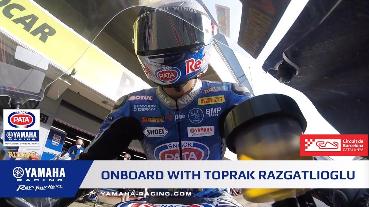 Onboard with Toprak Razgatlıoğlu at Circuit Barcelona Catalunya