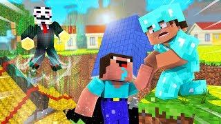 Minecraft - NOOB PRO HACKER - SINKHOLE BASE DESTRUCTION!