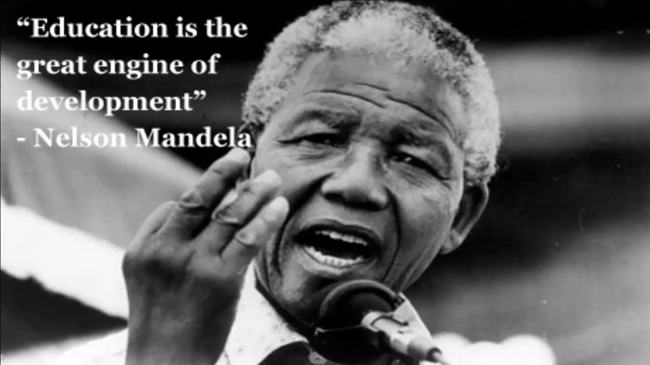 education quote about nelson mandela