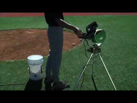 The ATEC Power Streak Baseball / Softball Pitching Machine