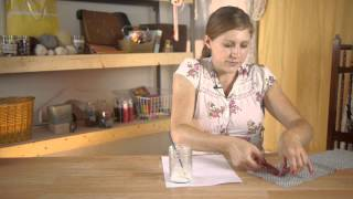 How to Apply Glue Evenly on Fabric : Assorted Craft Projects