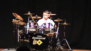 Mayer A. Caballero Jr.-  5 years old drummer at Highland Park Talent Show 03 04 2011