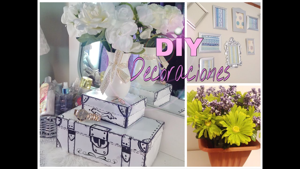 DIY 3 Ideas económicas y modernas para decorar tu ... on Room Decor Manualidades Para Decorar Tu Cuarto id=40013