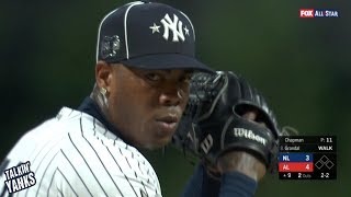 Aroldis Chapman gets the save in the All Star Game, a breakdown
