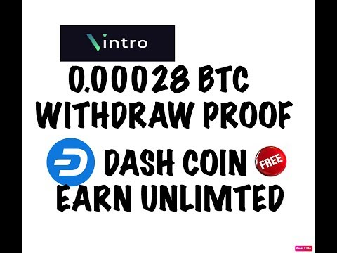 VINTRO CLOUD MINING WITHDRAW PROOF/ EARN DASH COIN UNLIMITED /TRUSTED SITE