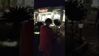 Египет Шарм эль Шейх Конец сентября 2020 года Вход в отель Sharming Inn Hotel вечером