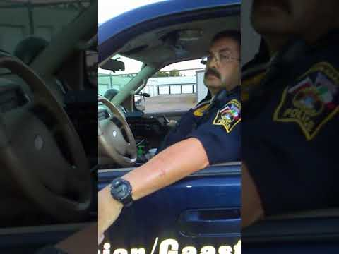 Bully cop gets told off.