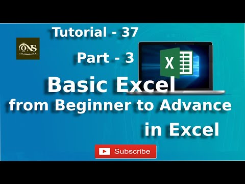 basic-excel-from-beginner-to-advance-||-part---3-||-tutorial-37-||-excel-tutorial