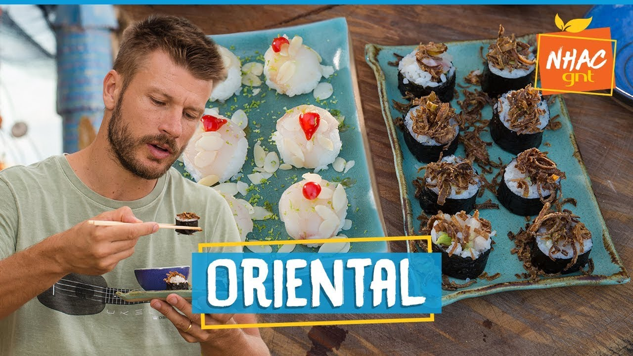 Sushi e makimono: aprenda a fazer comida japonesa 🍣   Rodrigo Hilbert    Tempero de Família - YouTube