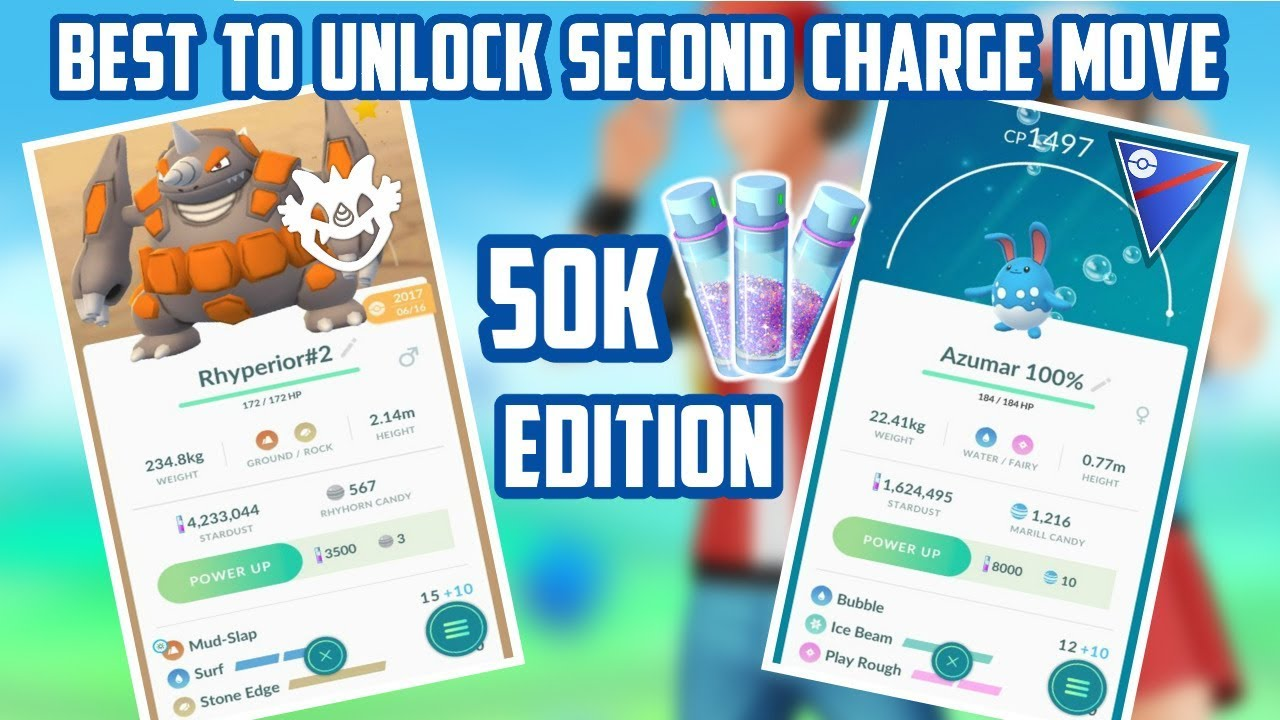 Pokemon Worth Unlocking Second Charge Move: 50,000 Edition!