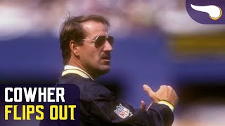 1995 MIN@PIT - Bill Cowher goes nuts over blown call