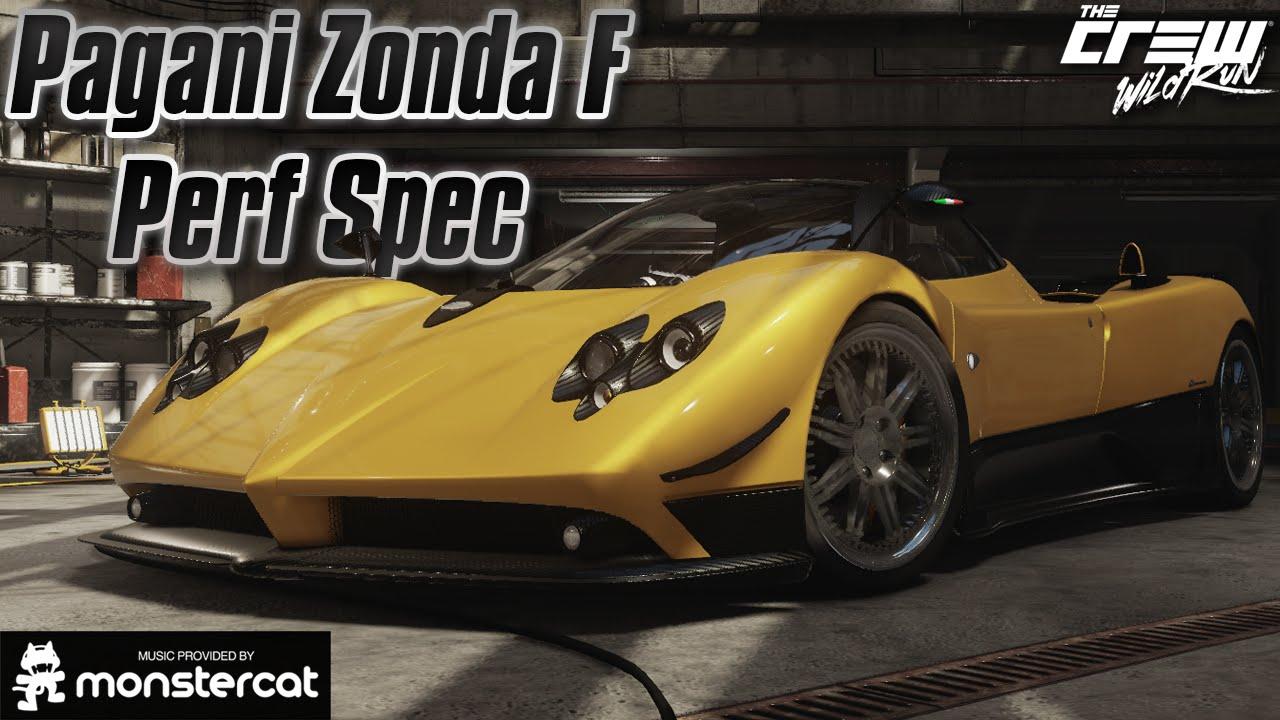 The Crew Wild Run: Pagani Zonda F Performance Spec Build ...
