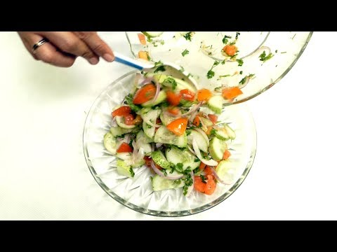 How to Prepare Diabetes Friendly Salad Recipes | Diabetic Friendly Tomato and Cucumber Salad
