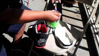 NIKE AIR JORDAN 1999 RETRO 4 MIDSOLE SWAP(GLUE THE SHOE FOO!) PT 9