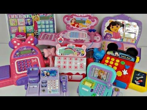 8 CASH REGISTERS My Little Pony MLP, Disney Frozen, Dora, Mickey Minnie Mouse, Barbie Play / TUYC