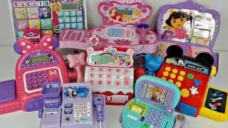 8 CASH REGISTERS with My Little Pony MLP, Dora, Mickey & Minnie Mouse Toys