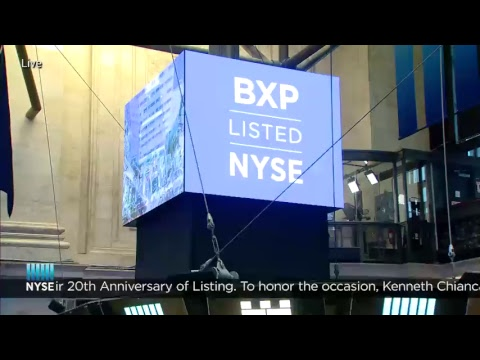 Boston Properties (NYSE: BXP) Celebrates their 20th Anniversary of Listing