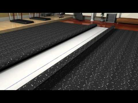 Athletic Textiles Rolled Rubber Floor Glue Down Guide