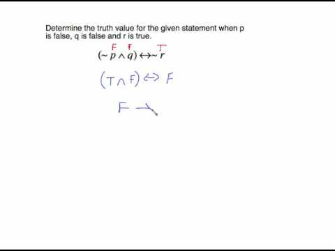 MGF 2106 SECTION 3.4  CONDITIONAL TRUTH TABLESPART 3
