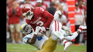 """Oklahoma CeeDee Lamb One-Handed """"Almost Catch of the Year"""" vs. UCLA"""