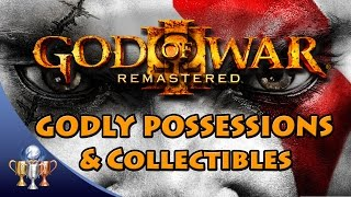 God Of War 3 Remastered - All Godly Possessions, Gorgon Eyes, Phoenix Feathers & Minotaur Horns