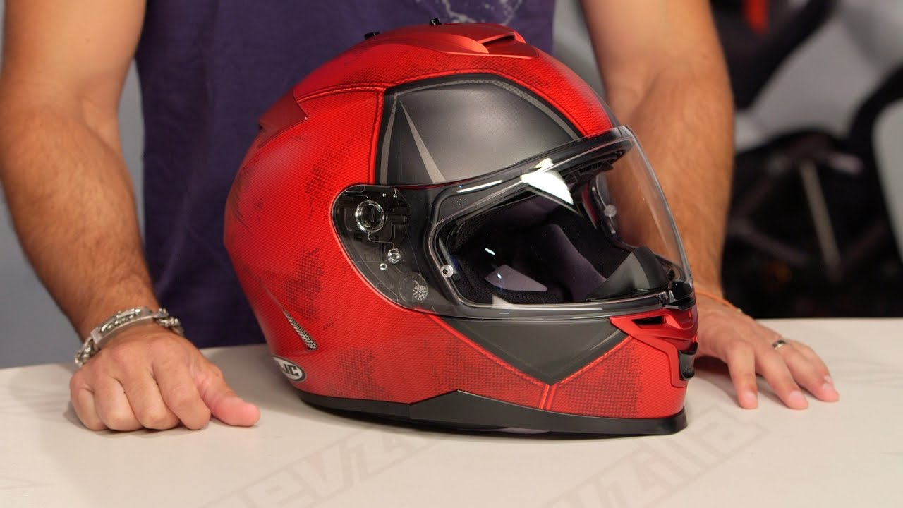 Hjc Rpha 11 >> HJC IS-17 Deadpool Helmet Review at RevZilla.com - YouTube