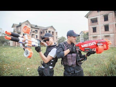 LTT Nerf War : SEAL X Two Warriors Nerf Guns Intrusion Fight Attack Boss Criminal Group