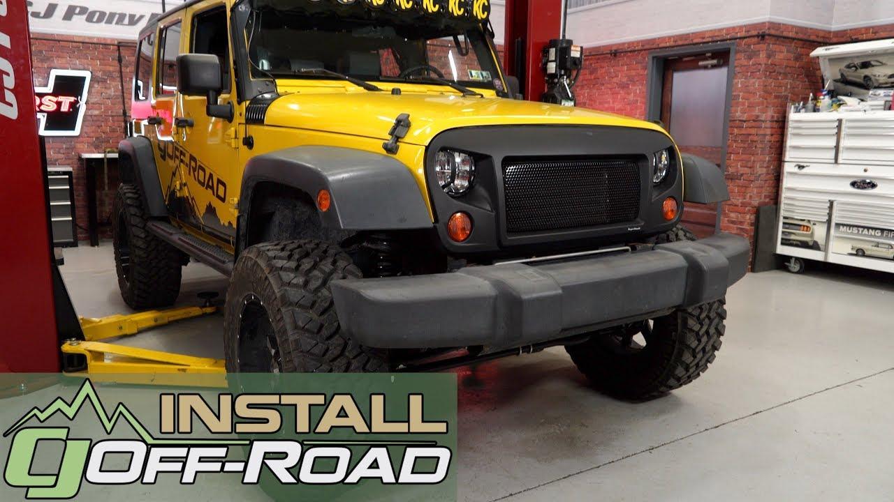 Jeep Wrangler JK Fabtech Lift Kit 3\  Trail II With Stealth Shocks 4-Door 2007-2018 Installation & Jeep Wrangler JK Fabtech Lift Kit 3\