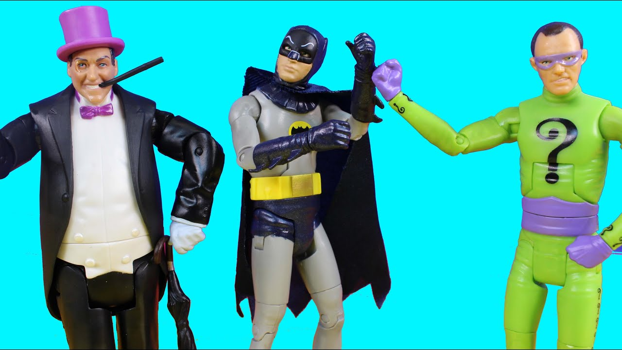 Batman Classic Tv Series With To The Batcave Batman Riddler And Penguin With Collector Card