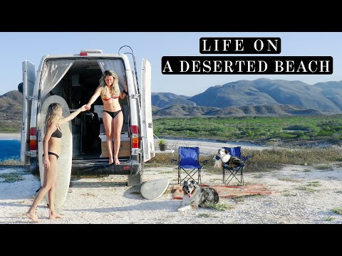 A HIDDEN SECRET BEACH in OAXACA | Daily Van Life Routine in Mexico (Free Camping)