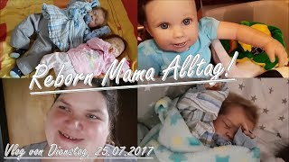 Spielen mit Emi!   Haushalt!   Vlog, 25.07.2017    Reborn Baby Deutsch    Little Reborn Nursery