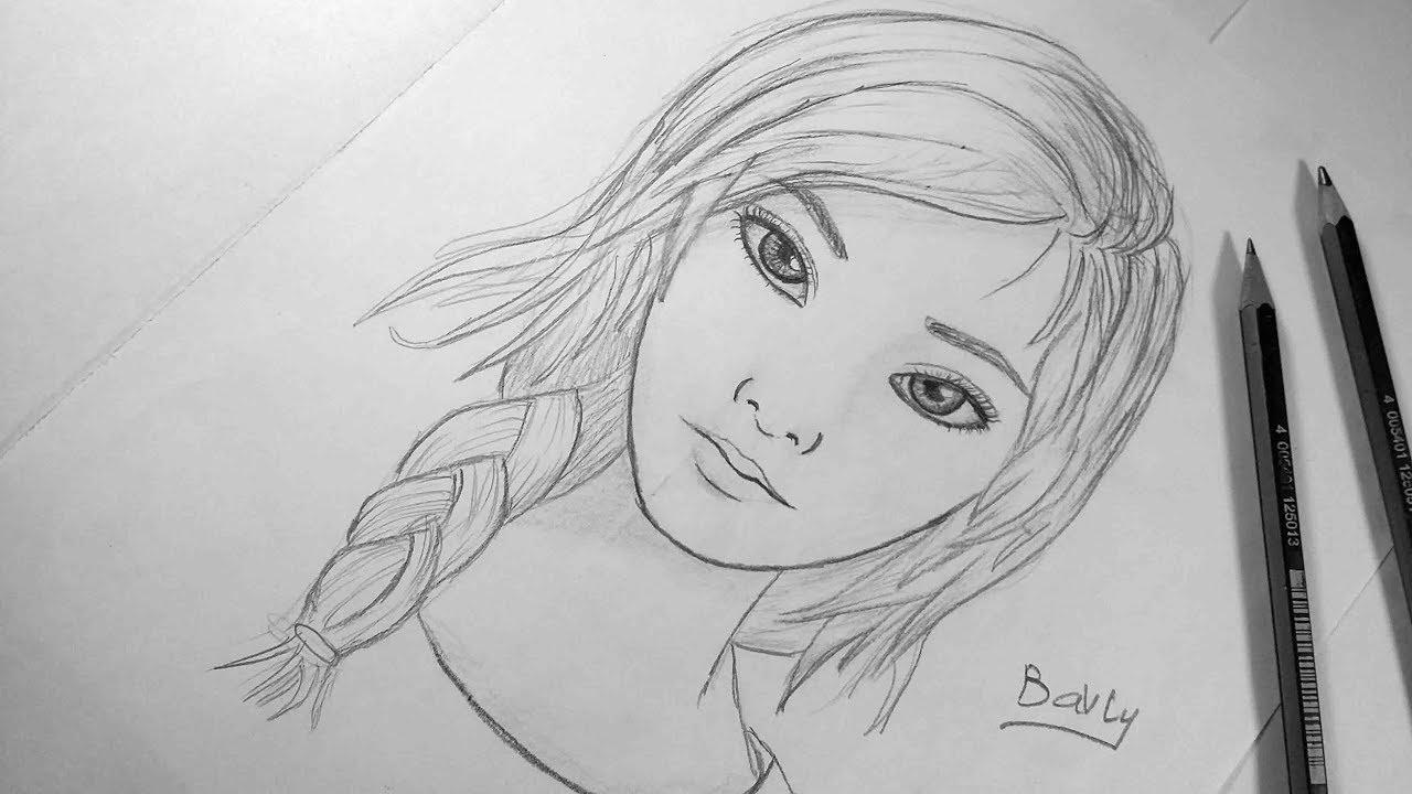 تعليم الرسم بالرصاص كيف ترسم وجه فتاة خطوة بخطوة للمبتدئين
