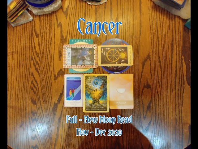 CANCER: FULL - NEW MOON 7 CARD DRAW= NATURE + OPPRESSION + DISPELLING SADNESS - NOV-DEC 2020