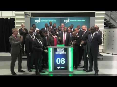 African Mining Delegation closes Toronto Stock Exchange, March 6, 2018