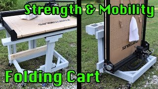 Folding Portable X-carve Table:  Strength And Mobility Demonstration
