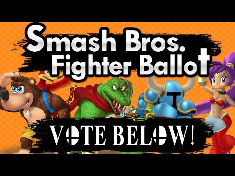 3 Open Character Slots?! Smash Bros. Fighter Ballot | Vote Who You Want To Win Below!