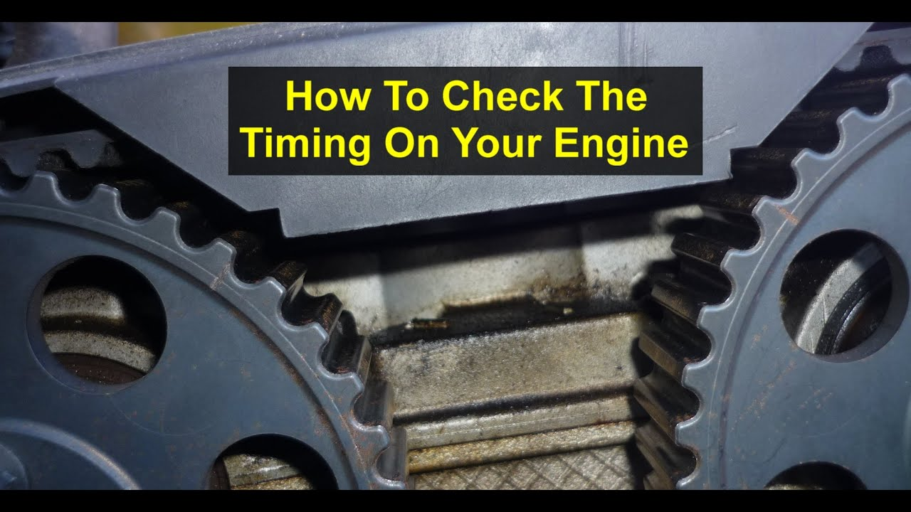 hight resolution of how to check the timing alignment check on your car or truck auto repair series