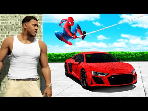 Wir klauen SPIDERMANS SPORTWAGEN in GTA 5!!