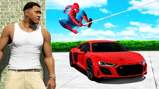 Wir klauen SPIDERMANS SPORTWAGEN in GTA 5!!