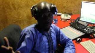 Praiz on Kiss Fm Abuja with OAP Danasour.