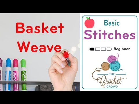 How To Crochet Basketweave Stitch