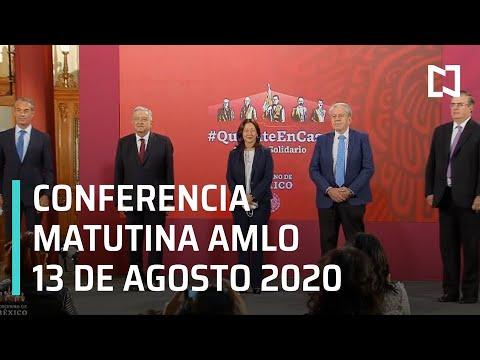 Conferencia matutina AMLO / 13 de agosto de 2020