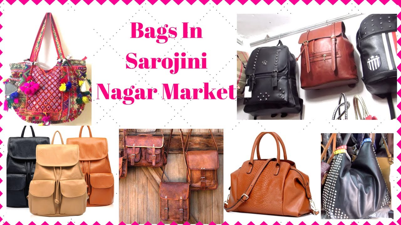 Top Places To Shop For Bags In Sarojini Nagar I Simi Bella - YouTube