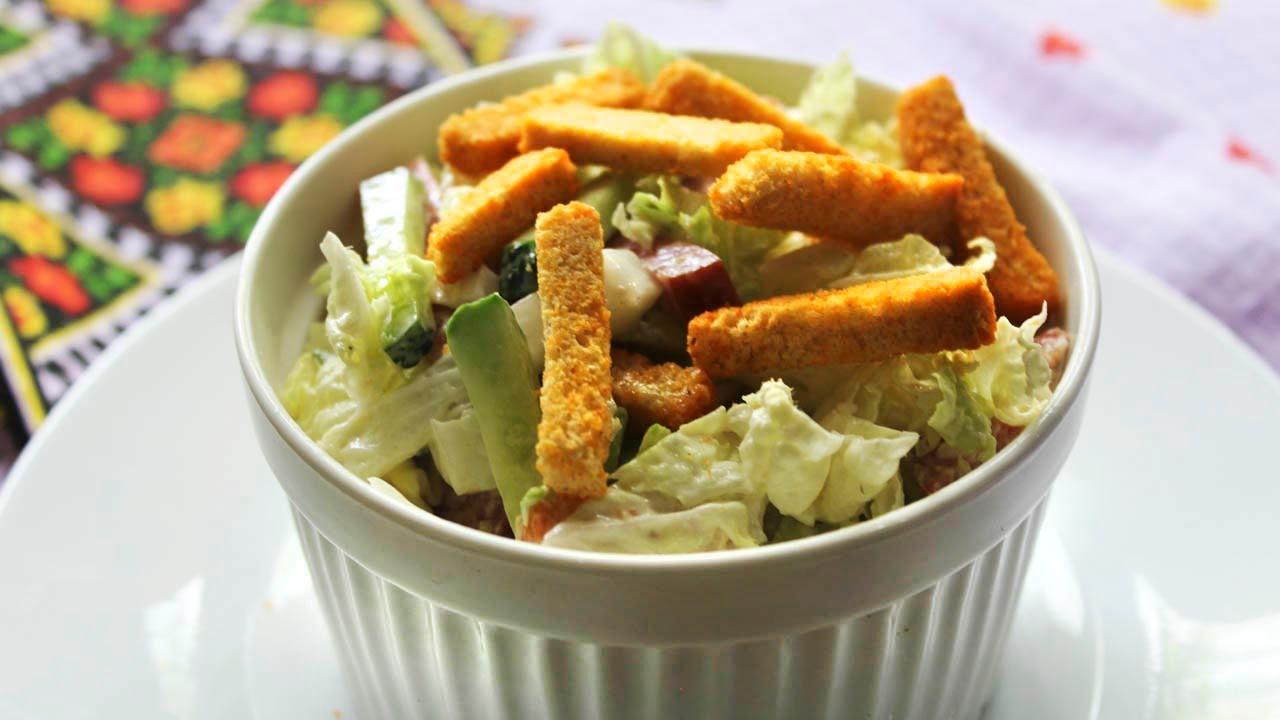 рецепты салат простой