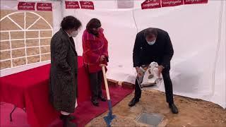 Colocan la primera piedra del Centro de Mayores y Biblioteca de Parquesol