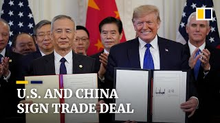Trade War: US and China sign breakthrough 'phase one' deal