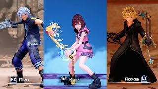 Kingdom Hearts 3 Re Mind - All Playable Characters Boss Fights